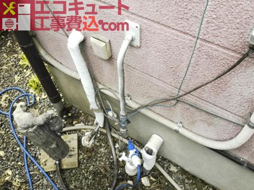 風呂配管工事1